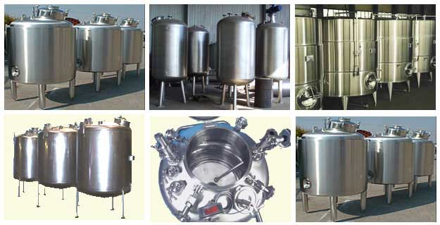 Stainless Steel Storage Vessels